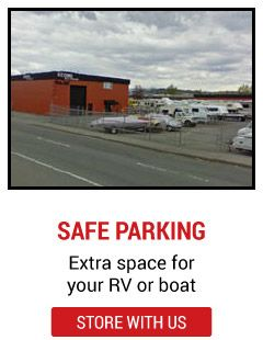 safe parking - extra space for your rv or boat - store with us | vehicle lot