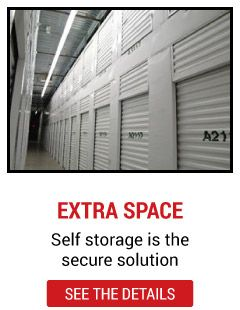 extra space - self storage is the secure solution - see the details | rows of units